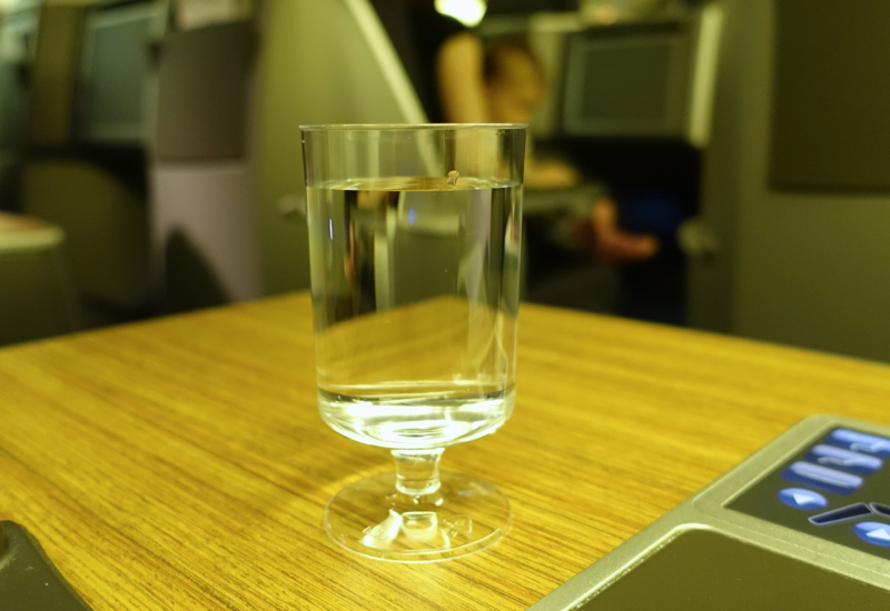 Review: American Business Class 767-Pre-Flight Drink