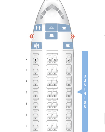 American Airlines 767-300 Business Class Seat Map-Seatguru