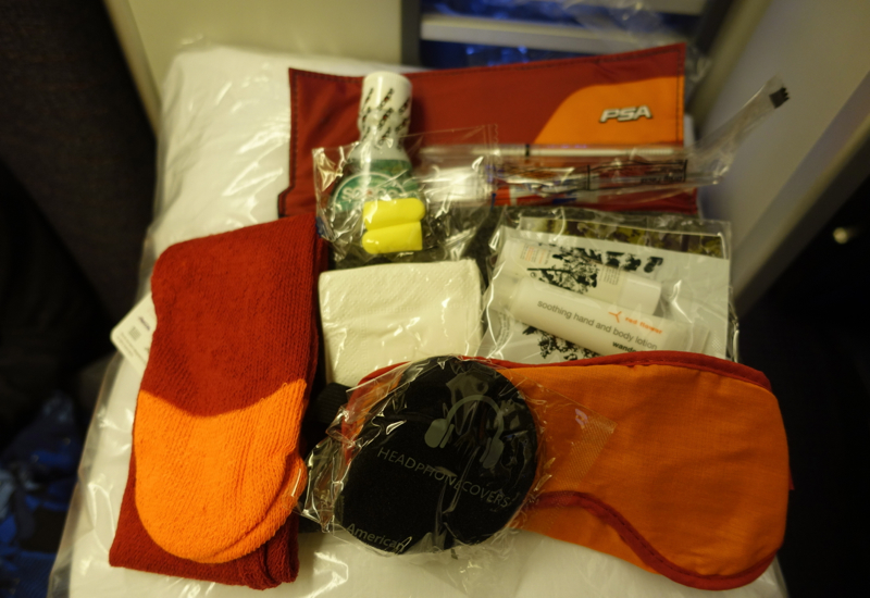 Amenity Kit, American 767 Business Class Review