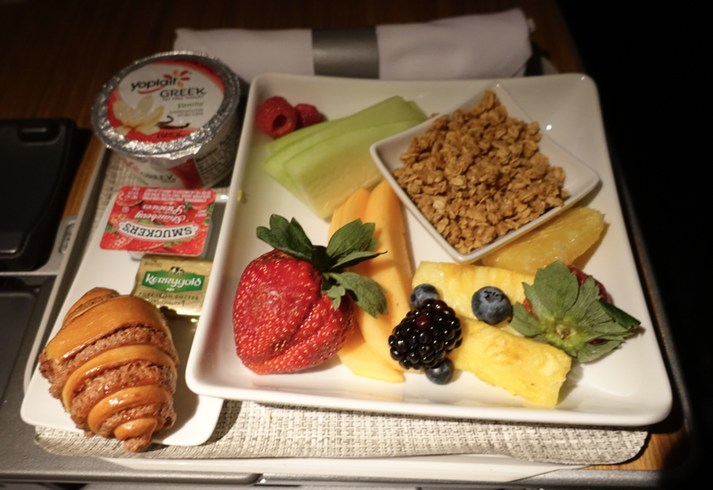 Review: Breakfast, American 767-300 Business Class