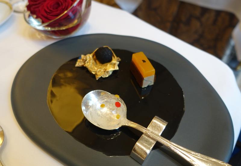 Trio of Amuses Bouches, Le Cinq Restaurant Review, Four Seasons Paris