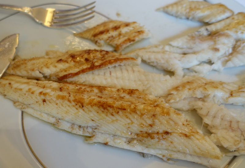 Sole Meuniere from Kids' Menu, Le Cinq Review, Four Seasons Paris