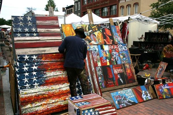 Painter at Eastern Market, Washington DC