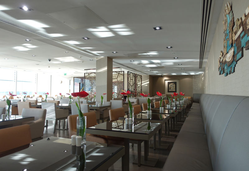 Dining Room Seating, Emirates Lounge LHR T3 Review