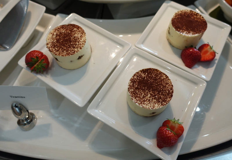 Tiramisu Dessert, Emirates Lounge LHR T3 Review