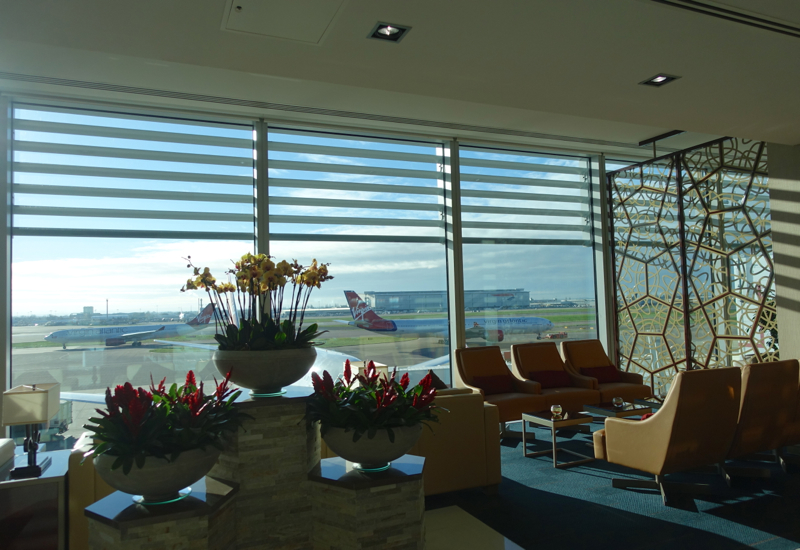 Review: Emirates Lounge London Heathrow Terminal 3-View of Runway