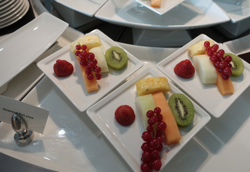 Fresh Fruit Plate, Emirates Lounge Review, LHR T3