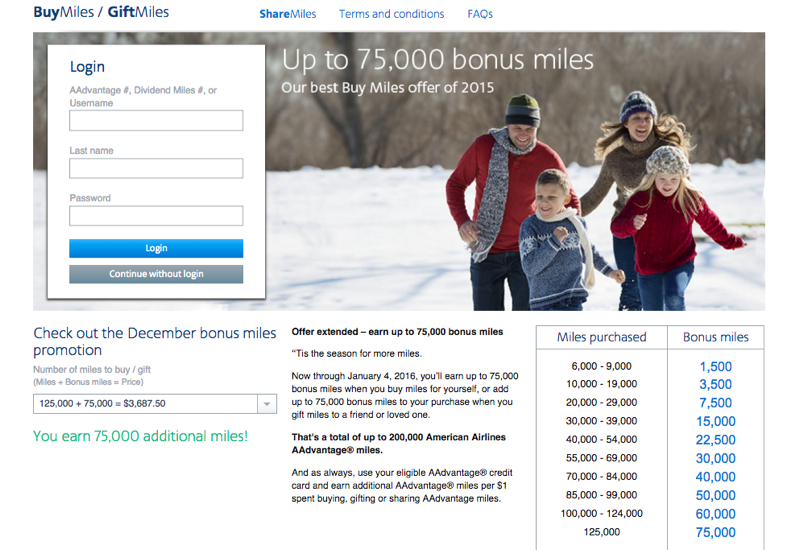 AAdvantage Award Chart Devaluation: Buy Miles to Top Up for an Award