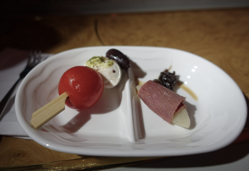 Amuse Bouche, Emirates First Class A380 Review
