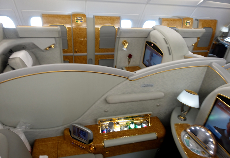 Review: Emirates First Class A380-First Class Cabin
