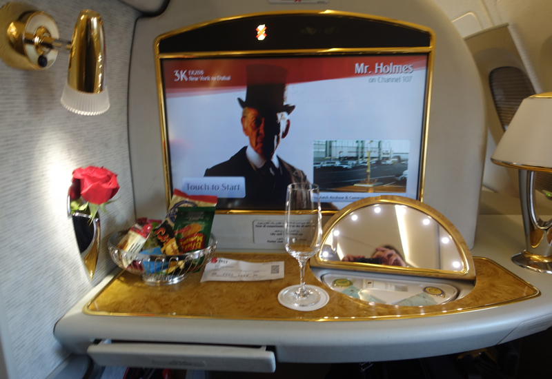 Review: Emirates First Class A380-Welcome Amenities
