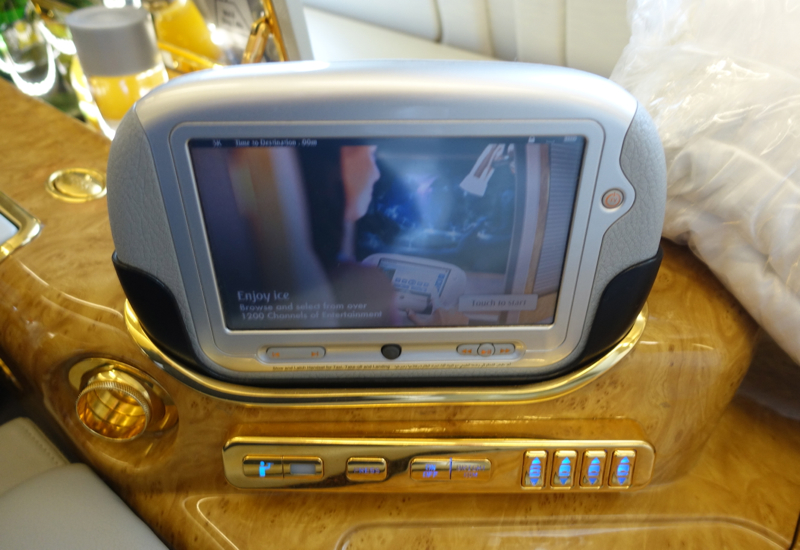 Emirates In Flight Entertainment Controls, Emirates First Class A380 Review