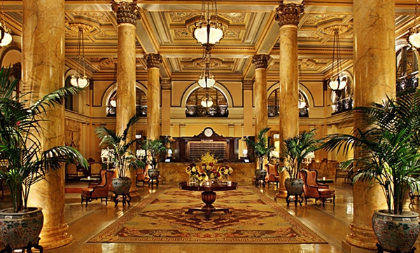 Lobby of Willard Intercontinental, Washington DC