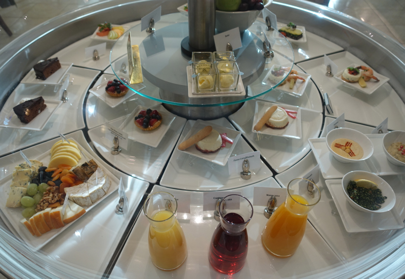 Desserts, Cheese, Juices, Hummus, Emirates Lounge JFK Review