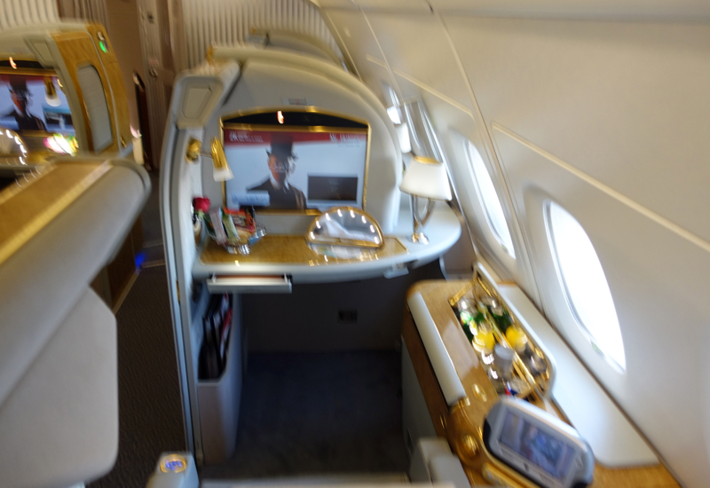 Review: Emirates First Class A380-Seat 3K