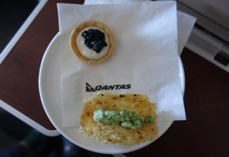 Qantas First Class A380 Review-Amuse Bouche