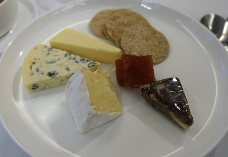 Cheese Plate, Qantas First Class Review A380