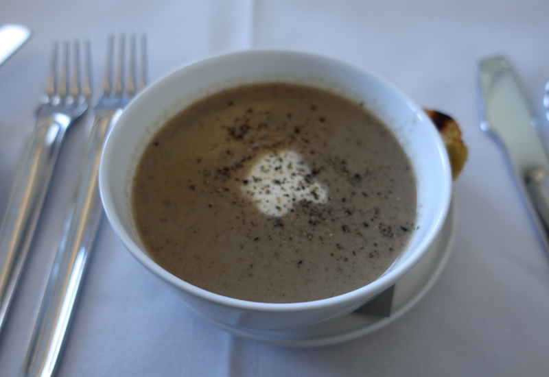 Porcini Mushroom Soup, Qantas First Class A380 Review