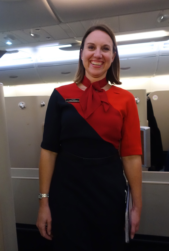 Qantas First Class A380 Review-First Class Purser, London to Dubai