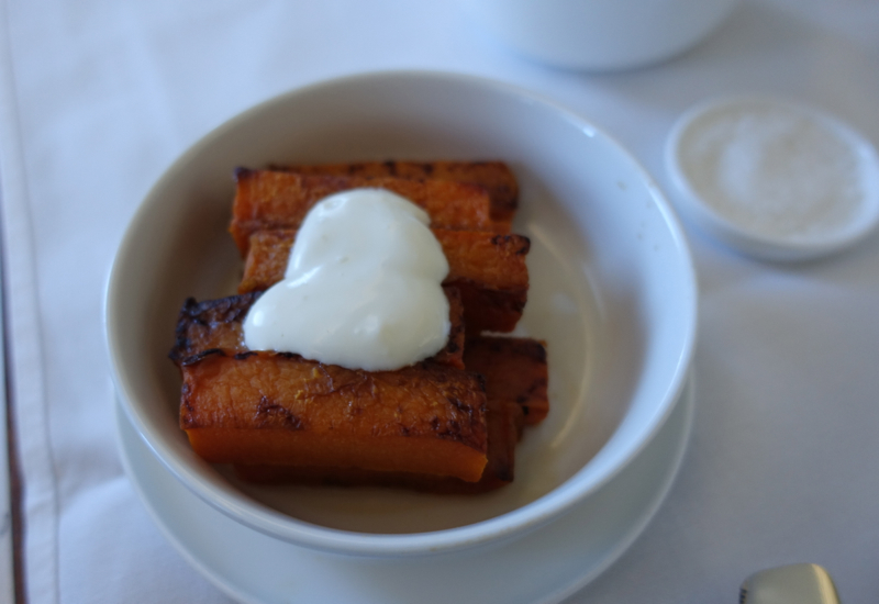 Roasted Pumpkin, Review of Qantas First Class, A380