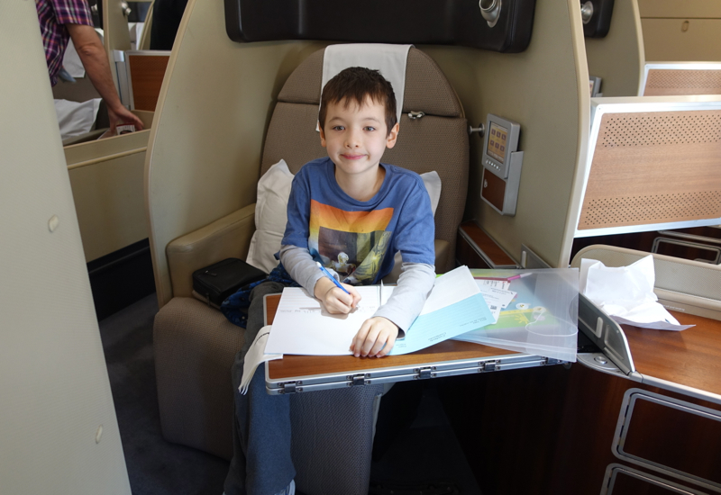 Review: Qantas First Class A380 London to Dubai: Seat 3A