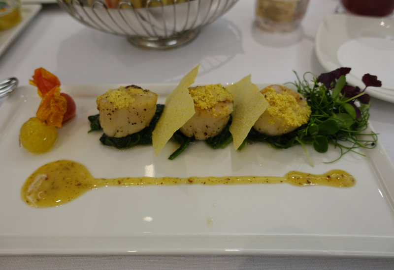 Scallops, Emirates First Class Lounge Dubai Review