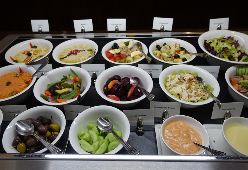 Dips and Salads, Emirates First Class Lounge Dubai Review