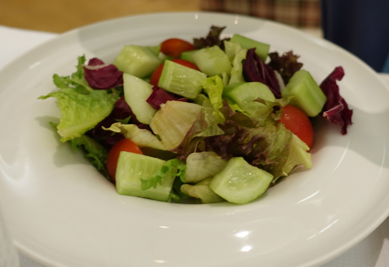 Salad, Emirates First Class Lounge Dubai Review
