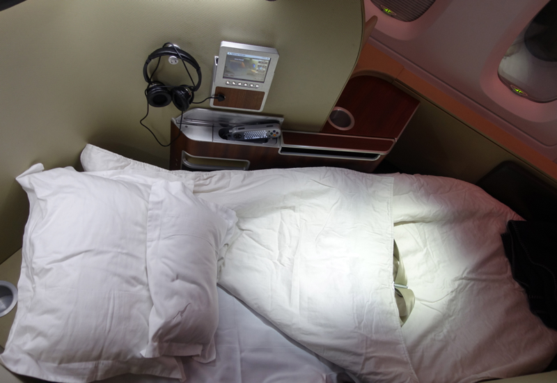 Review: Qantas First Class A380 Dubai to Melbourne
