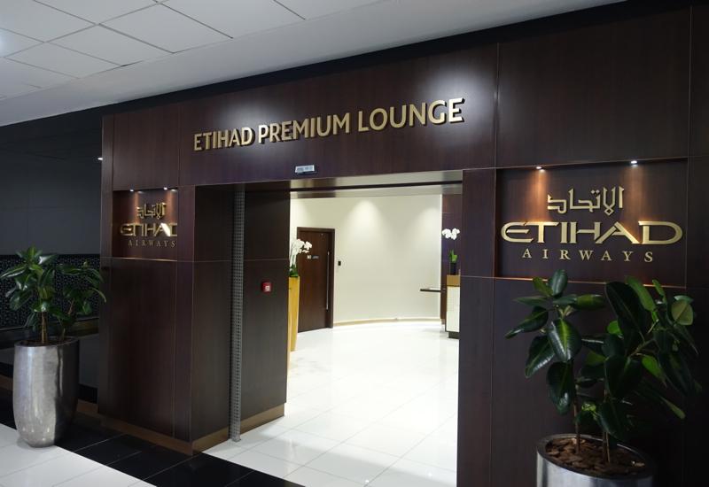 Review: Etihad Premium Lounge Abu Dhabi-Entrance
