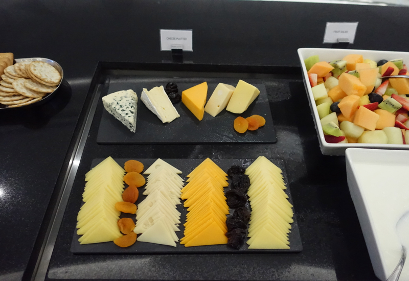 Cheese and Fruit, Etihad Business Class Lounge, Abu Dhabi