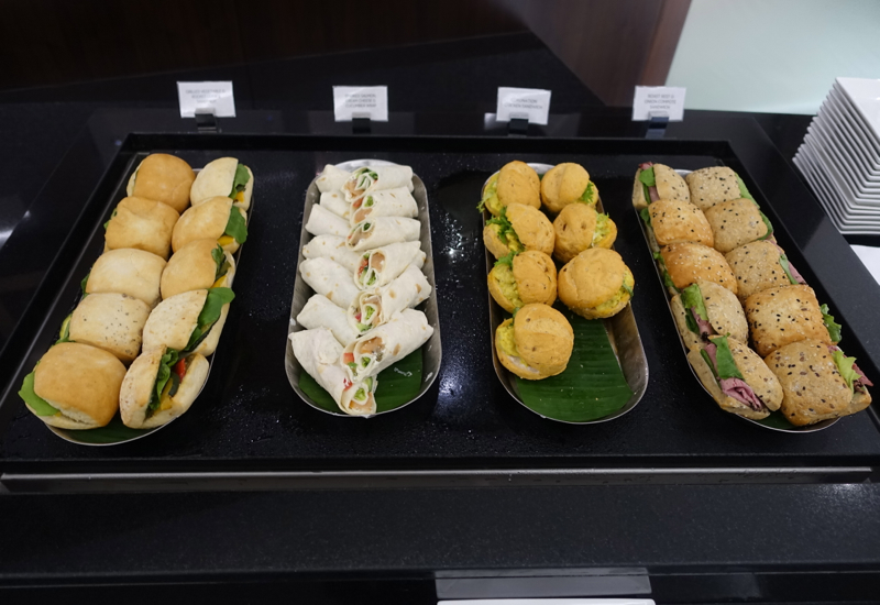 Sandwiches, Etihad Business Class Lounge, Abu Dhabi Review