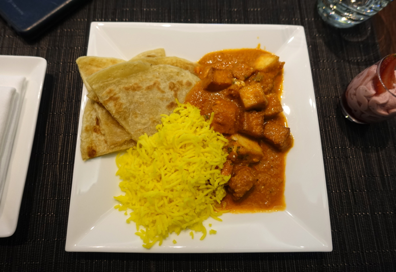 Tofu Masala, Etihad Business Class Lounge Abu Dhabi Review