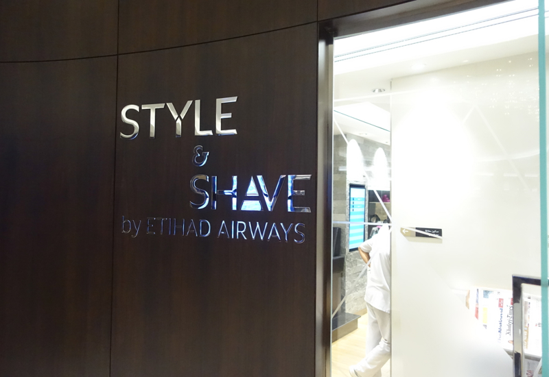 Style and Shave Salon, Etihad Business Class Lounge, Abu Dhabi Review