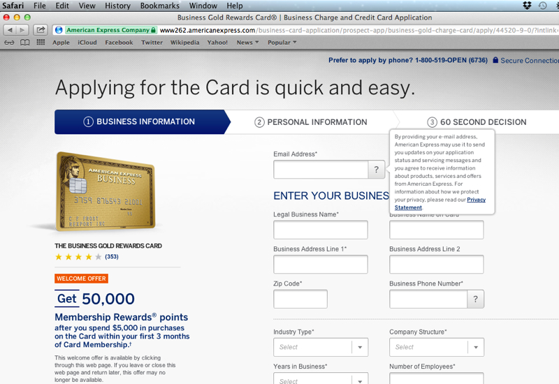 How to Get the 50K AMEX Business Gold Card Offer