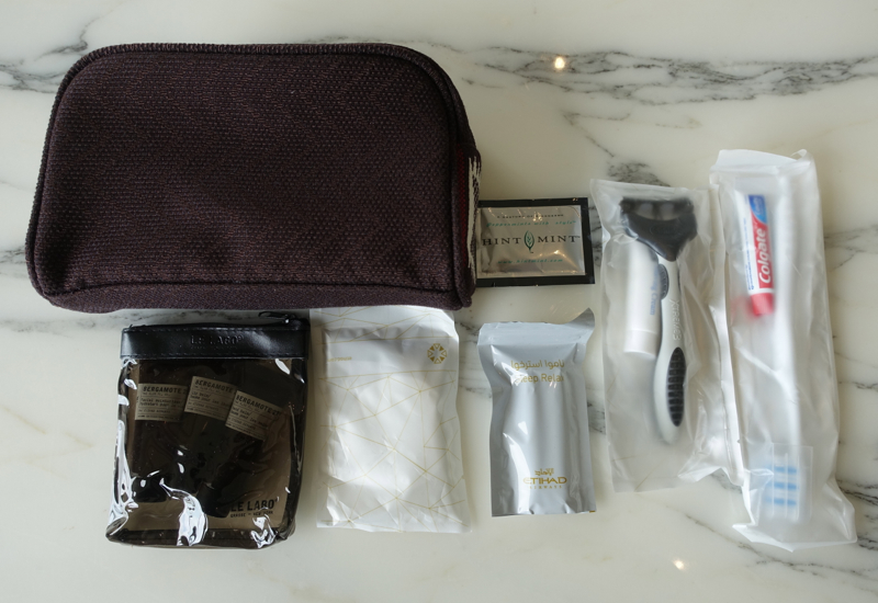 Review: Etihad A380 First Apartment Amenity Kit with Le Labo Products