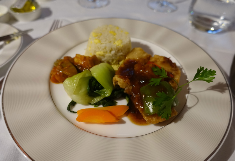 Braised Red Snapper, Etihad A380 First Apartment Review