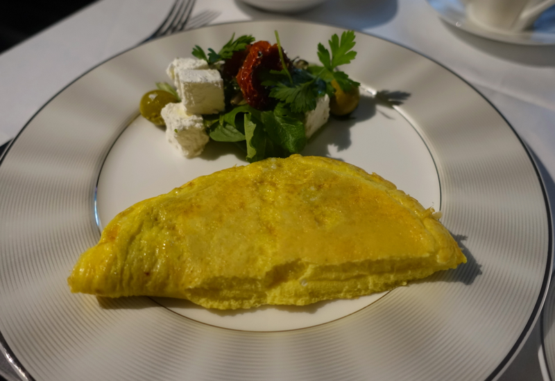Breakfast Omelette, Etihad First Apartment Review, A380