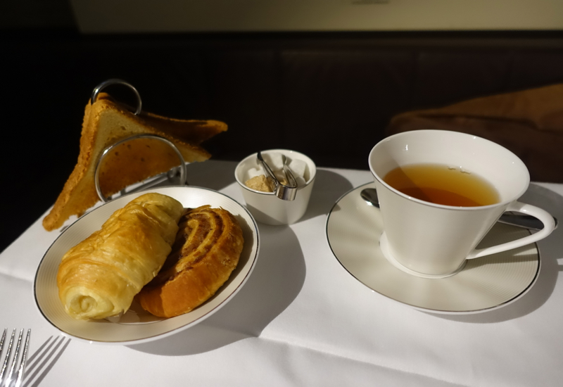 Breakfast Pastries and Mint Tea, Etihad First Apartment Review, A380