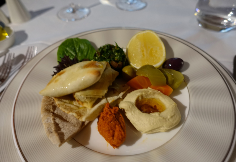 Arabic Mezze, Etihad A380 First Apartment Review