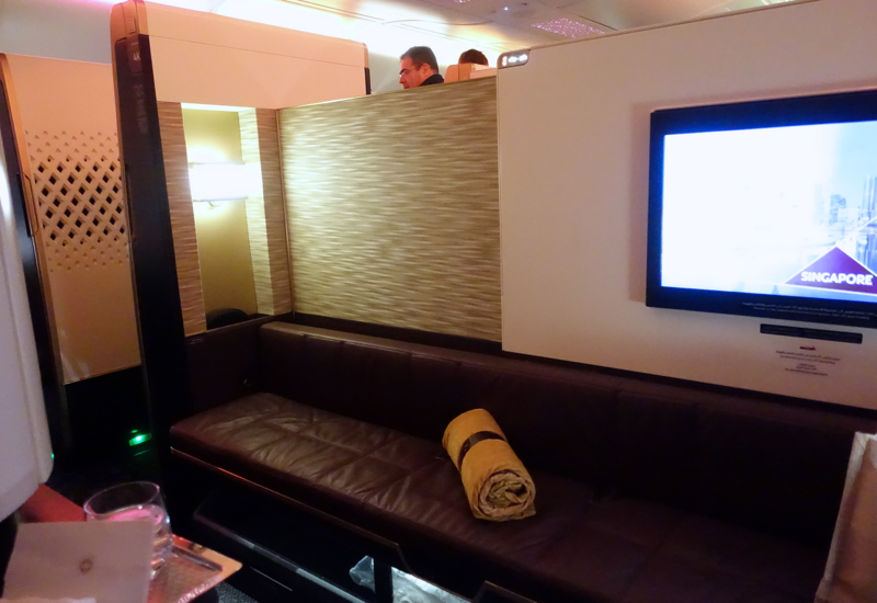 Low Partitions, Etihad A380 First Class Apartment Review