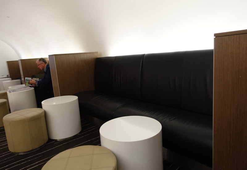 Banquette, Qantas International Business Class Lounge Review, Melbourne