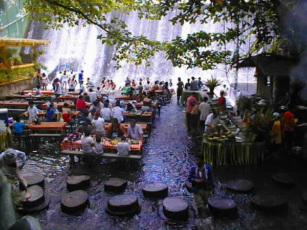 Dining by the Waterfall, Villa Escudero, Quezon