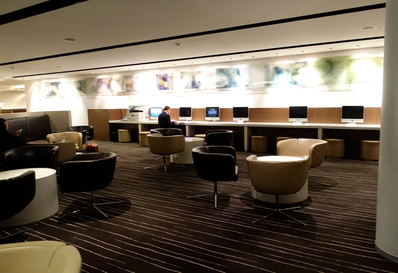Seating, Qantas International Business Class Lounge, Melbourne Review