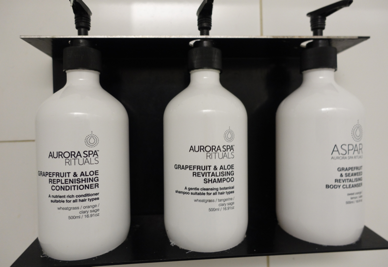 Aurora Spa Bath Products, Qantas International Business Class Lounge Melbourne Review