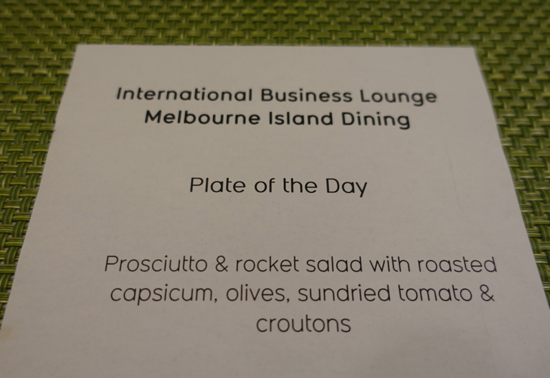 Qantas International Business Class Lounge Melbourne Review: Plate of the Day