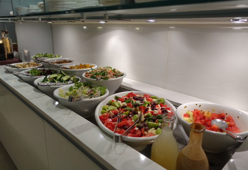 Cold Buffet, Qantas International Business Class Lounge Melbourne Review