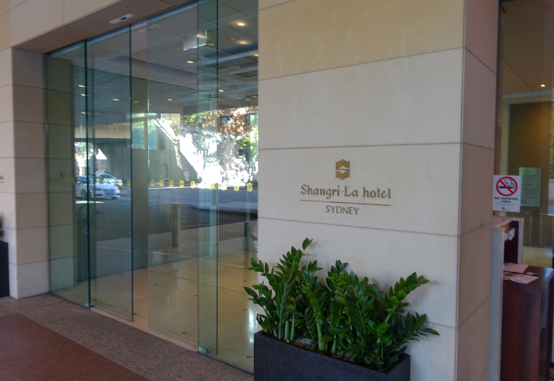 Review: Shangri-La Sydney Entrance