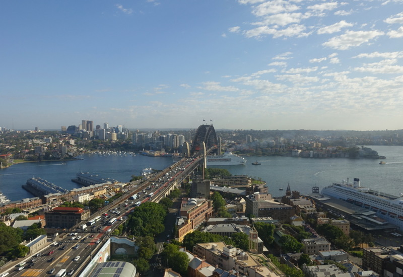 View from Horizon Club Lounge, Shangri-La Sydney Review