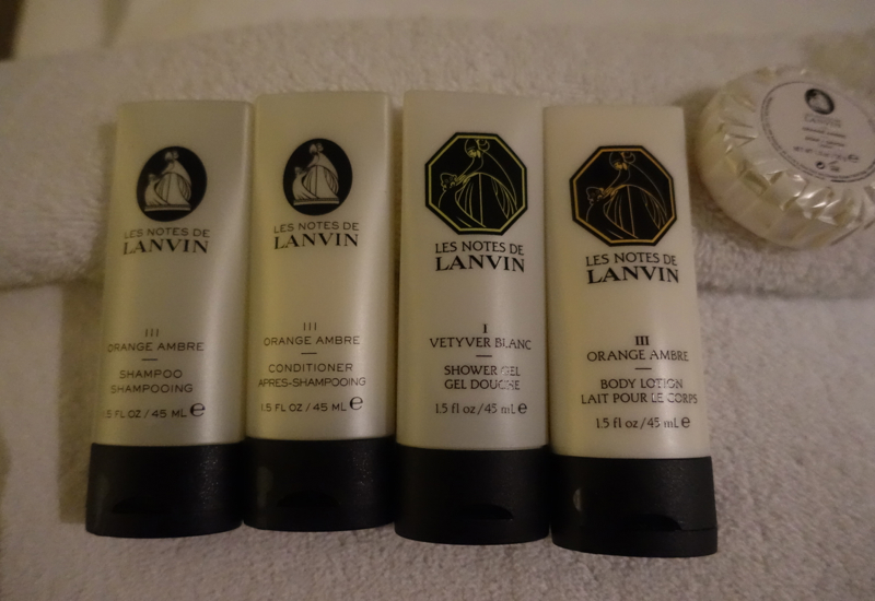 Les Notes de Lanvin Bath Products, Sofitel Auckland Review